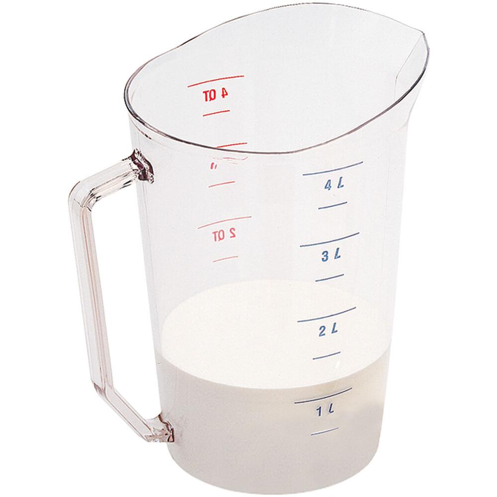 Clear, Camwear Measuring Cups, 4 Quarts, 1/PK View 2