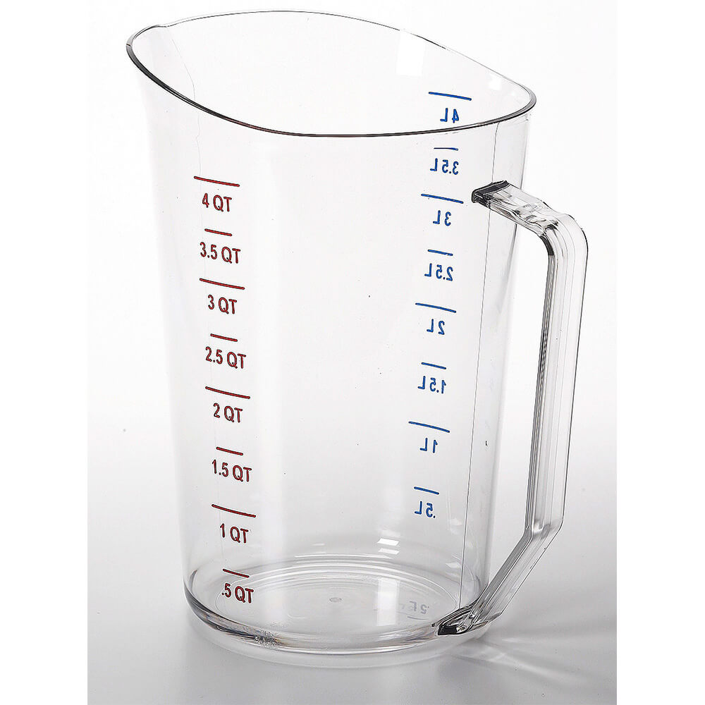Clear, Camwear Measuring Cups, 4 Quarts, 1/PK
