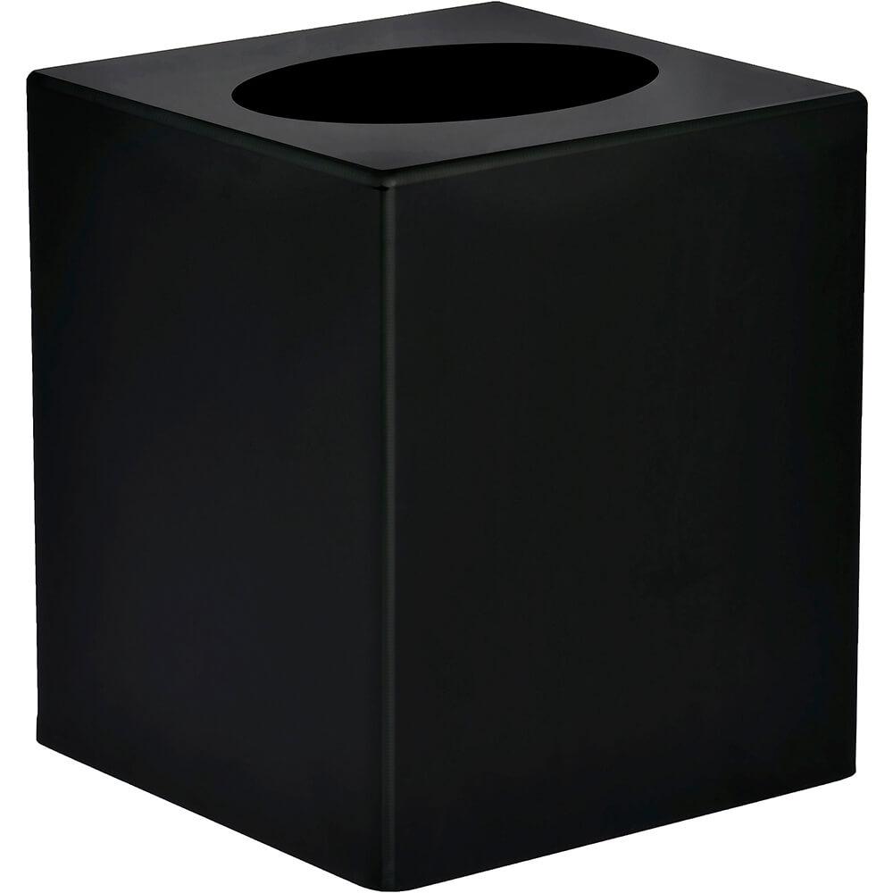 "Black, Acrylic Tissue Box Cover 5.5"" X 4.75"" X 4.75"""