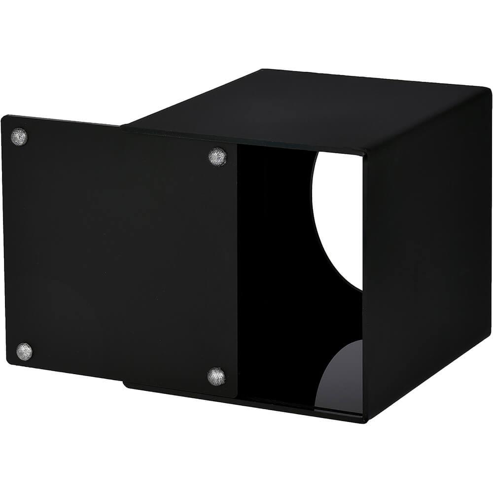 "Black, Acrylic Tissue Box Cover 5.5"" X 4.75"" X 4.75"" View 2"