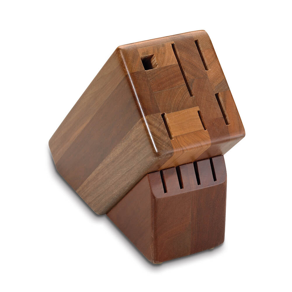 10-Slot Hardwood Block, Holds 9 Knives and Steel Sharpener