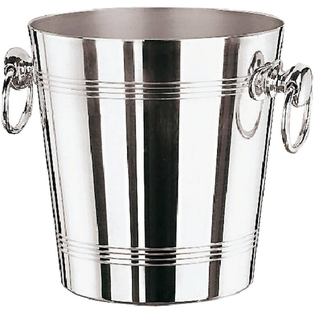 Paderno world cuisine chrome steel aluminum wine bucket for Aluminum cuisine