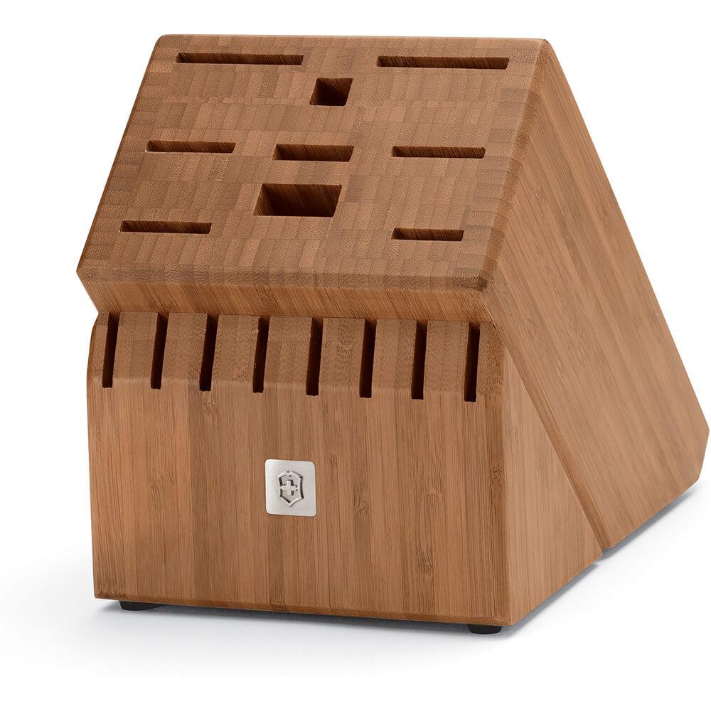 17 Slot Bamboo Block, Natural Finish