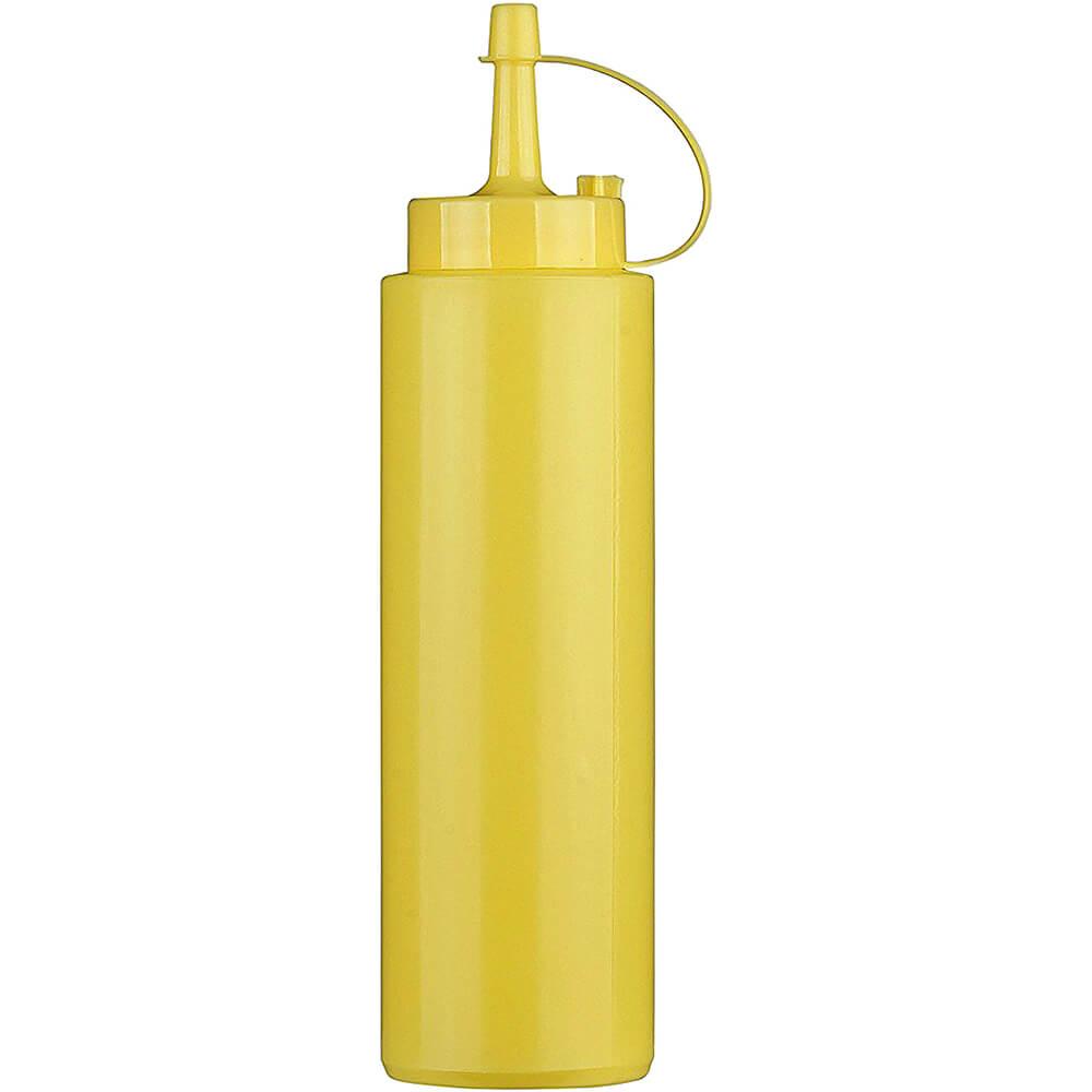 Yellow, Plastic Condiment Squeeze Bottle, 12 Oz