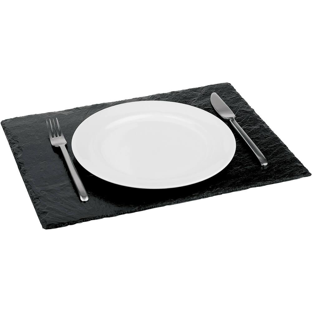 "Black, Natural Slate Board / Plate, Rectangular, 17.88"" X 11.88"""