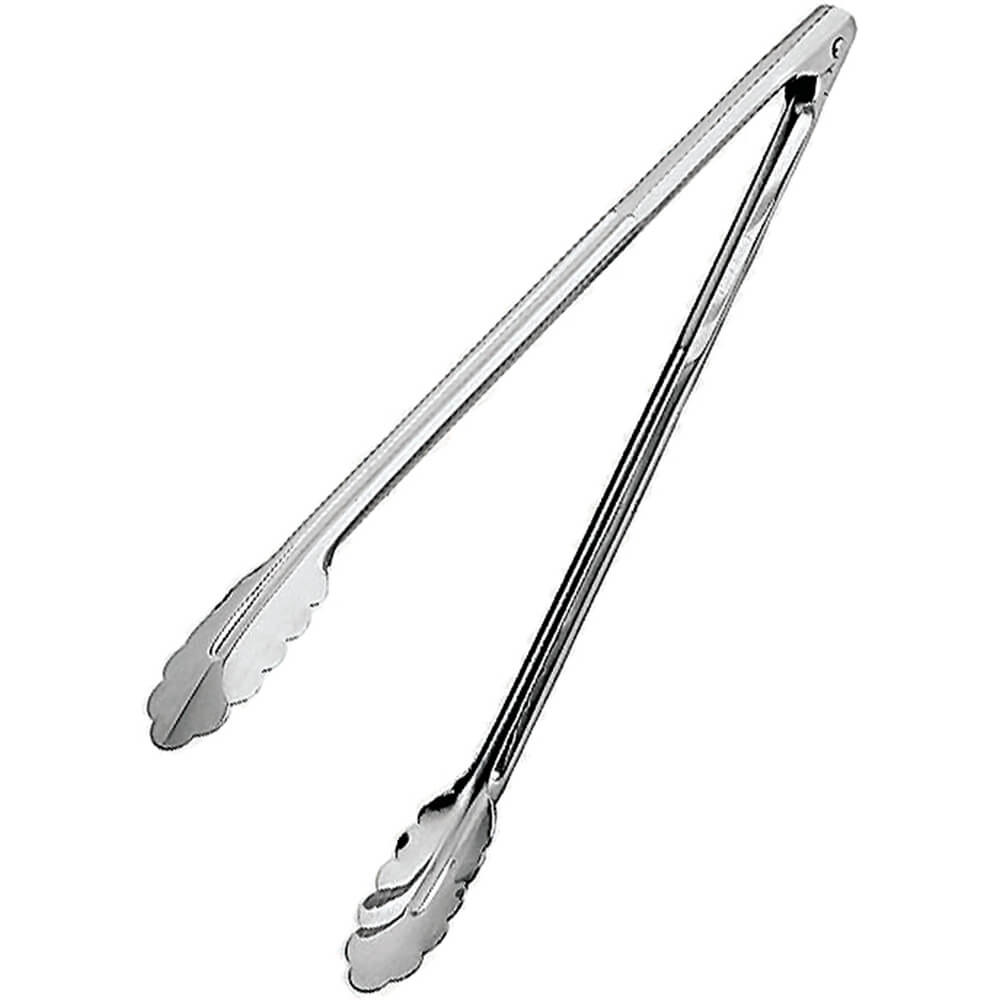 Paderno World Cuisine stainless steel serving tongs, 15