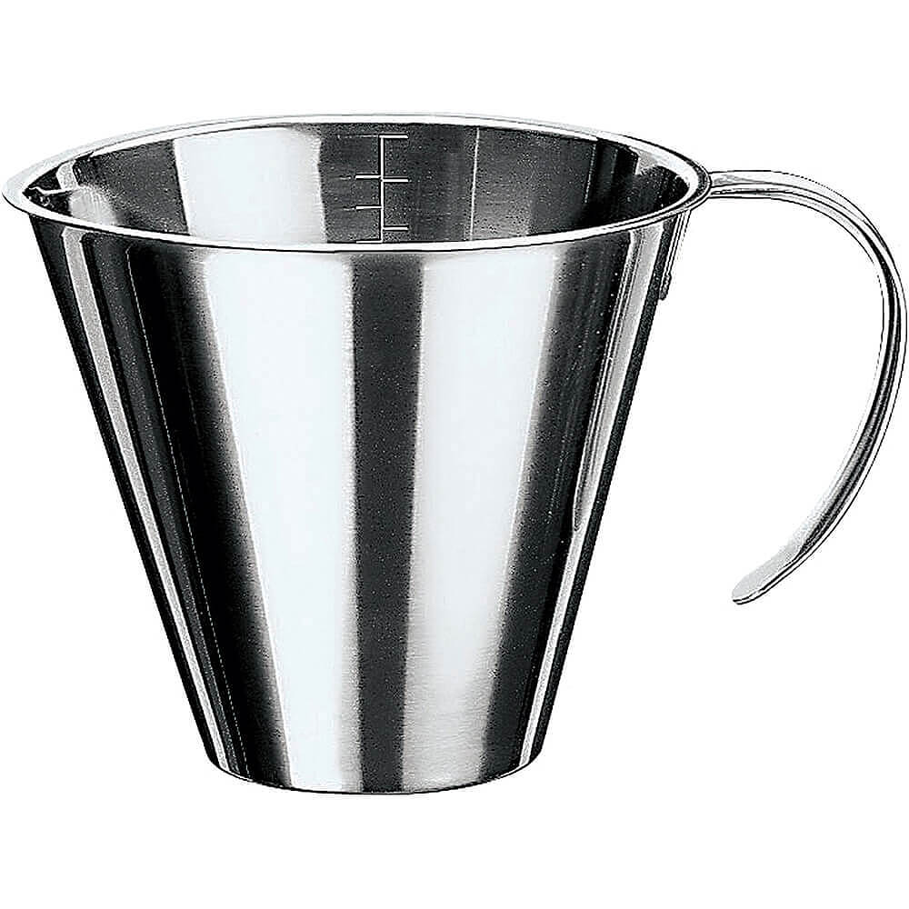 Stainless Steel Stackable Measuring Cup, 0.31 Qt