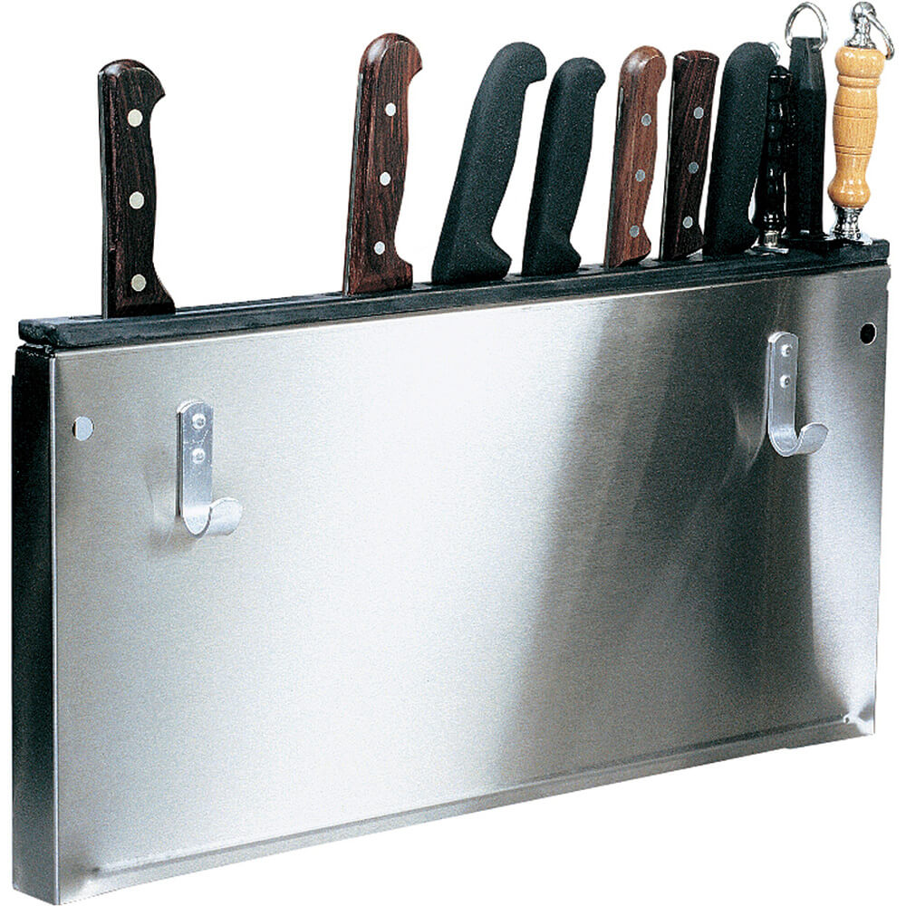 "23"" x 12"" x 1.25"" Stainless Steel Kitchen Utensils / Tool Holder"