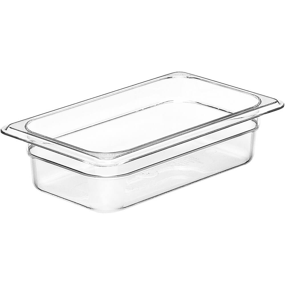 "Clear, 1/4 GN Food Pan, 2 1/2"" Deep, 6/PK"