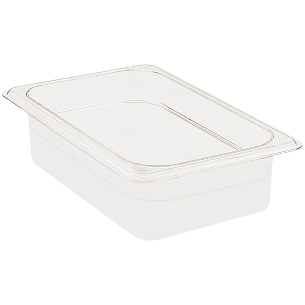 "White, 1/4 GN Food Pan, 2 1/2"" Deep, 6/PK"