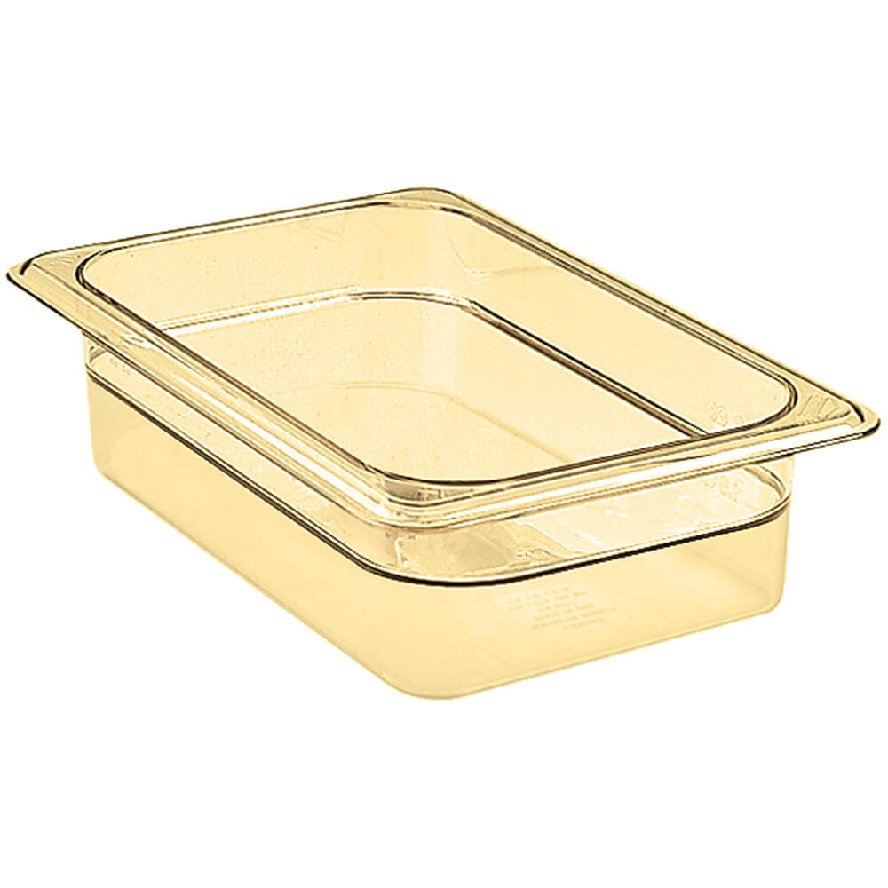 "Amber, 1/4 GN High Heat Food Pan, 2 1/2"" Deep, 6/PK"