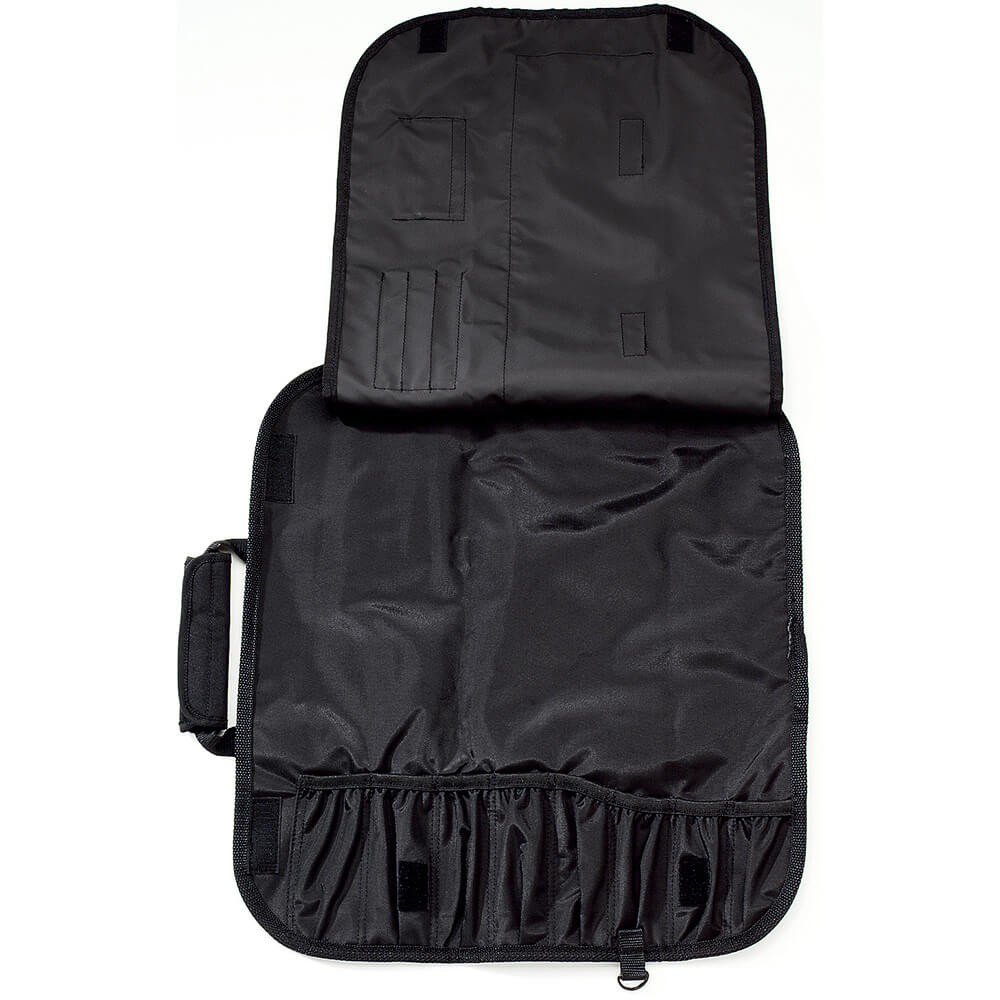 """Black Polyester Knife Roll, Holds Up To (8) 12"""" Knives View 2"""