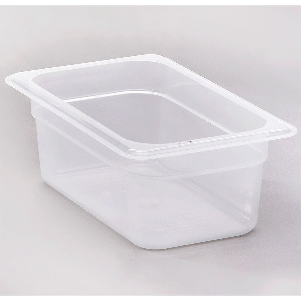 "Translucent, 1/4 GN Food Pan, 4"" Deep, 6/PK"
