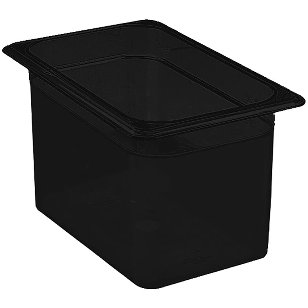 "Black, 1/4 GN Food Pan, 6"" Deep, 6/PK"