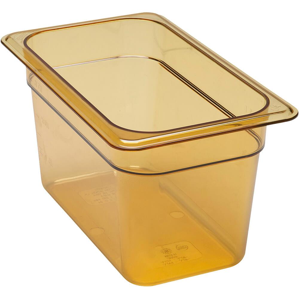 """Amber, 1/4 GN High Heat Food Pan, 6"""" Deep, 6/PK"""