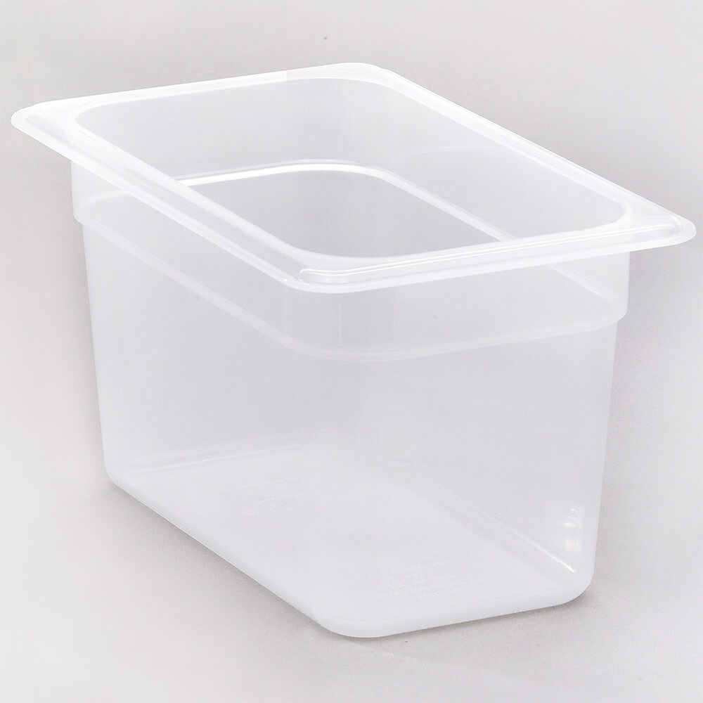 "Translucent, 1/4 GN Food Pan, 6"" Deep, 6/PK"