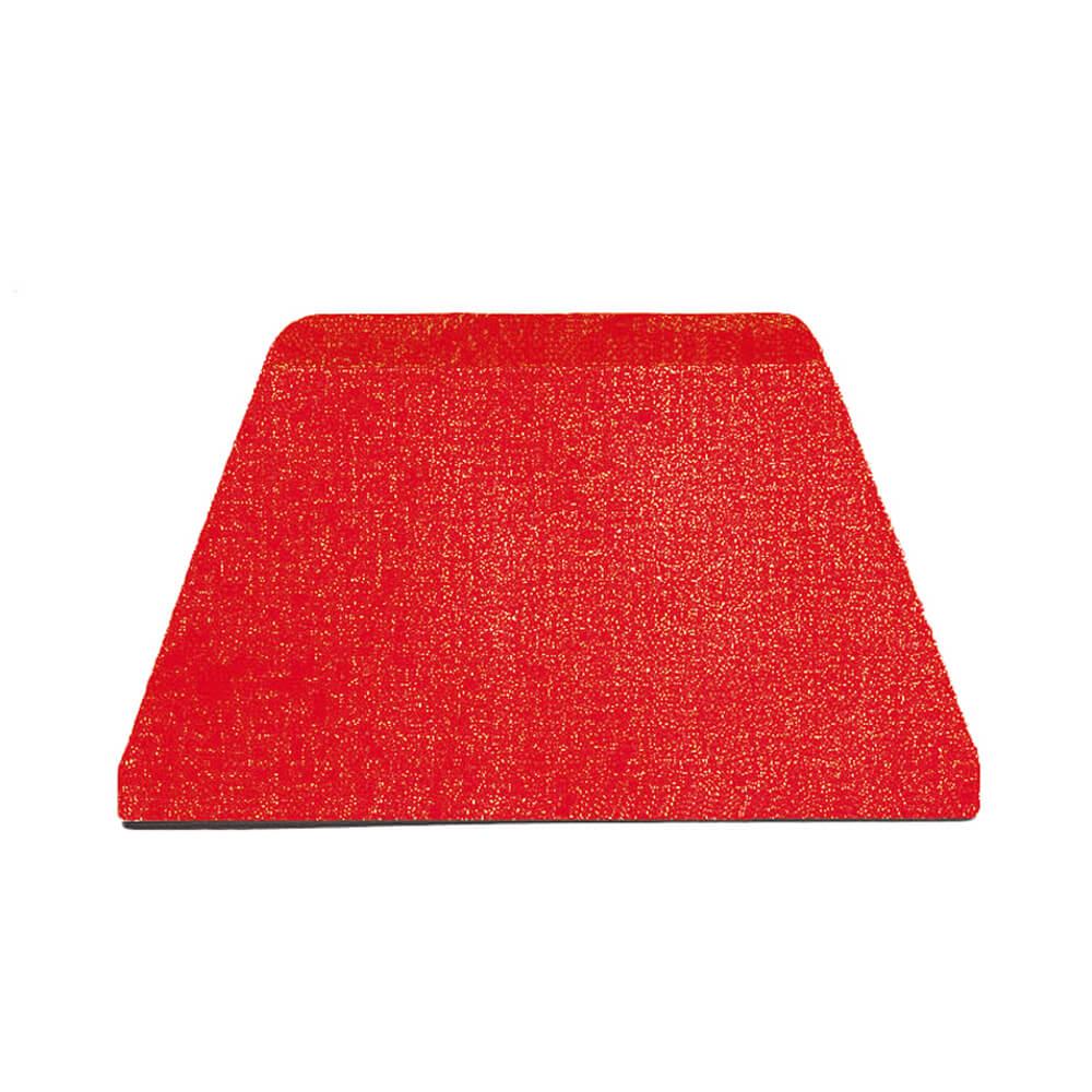 "Red, Plastic Bowl Scraper, Trapezoidal, 5"", 10/PK"