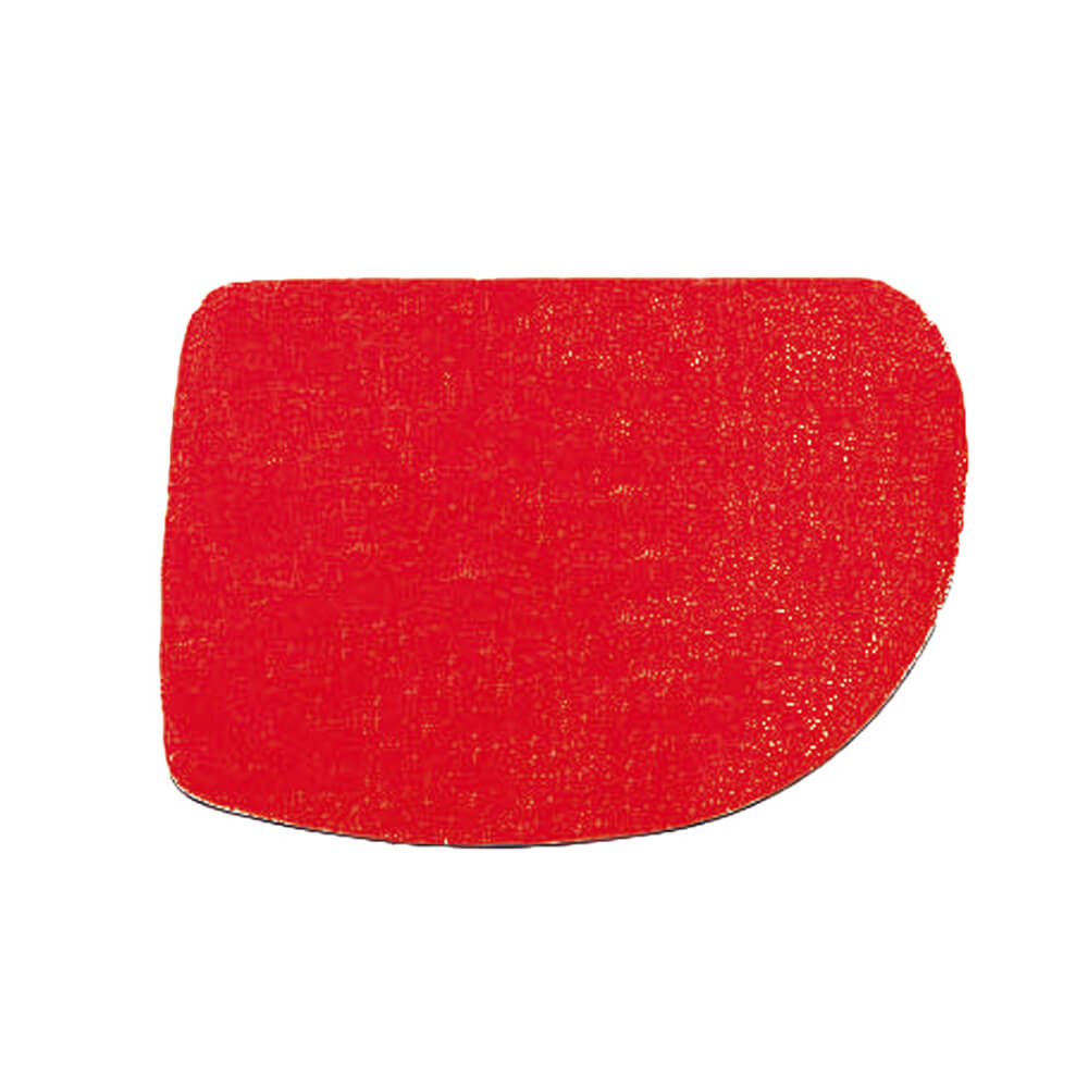 Red, Plastic Bowl Scraper, Triangular, 4.75""