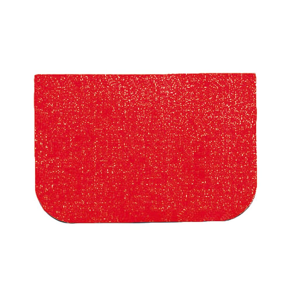 "Red, Plastic Bowl Scraper, Rectangular, 4.75"""