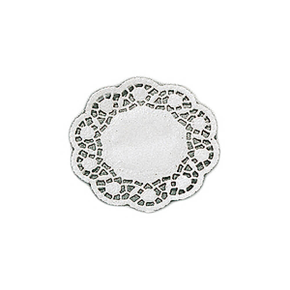Paderno World Cuisine White Paper Doilies Round Disposable Doyleys Placemats 4
