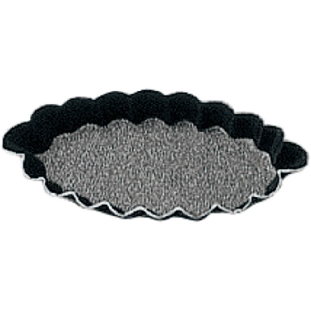 Black, Steel Non-stick Fluted Boat Mold, 4""