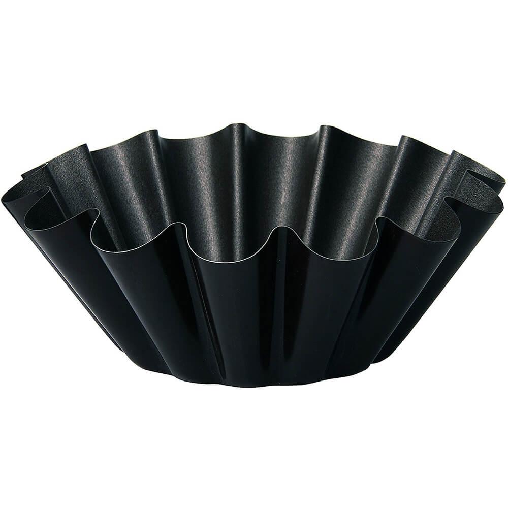"""Black, Steel Non-stick Brioche Mold, 4.32"""""""