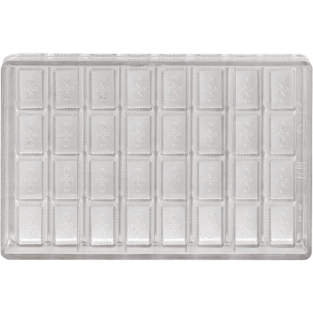Polycarbonate Chocolate Mold, 4X8 Imprints, 9""