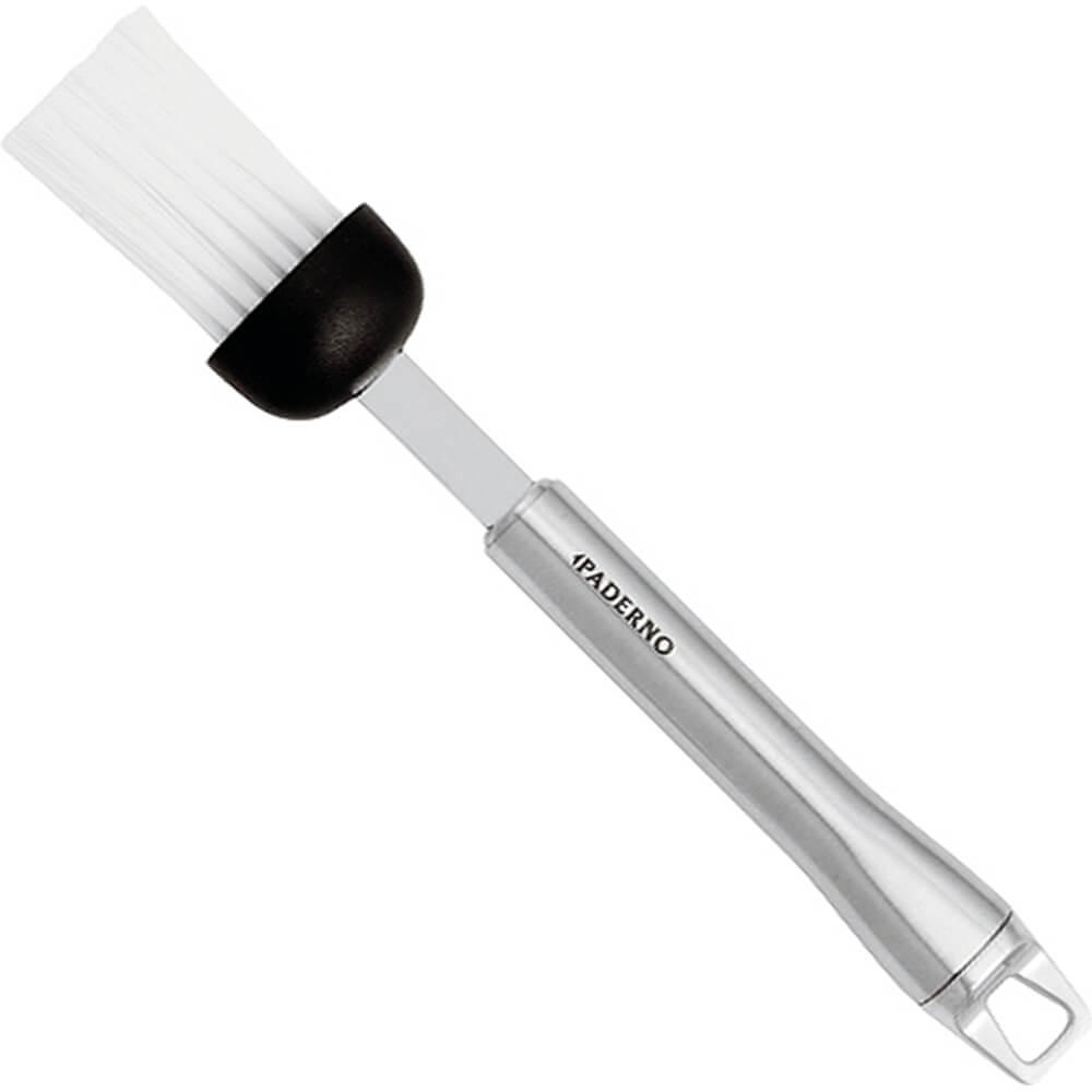 """All Stainless Steel Pastry Brush, Nylon Bristles, 7.88"""""""