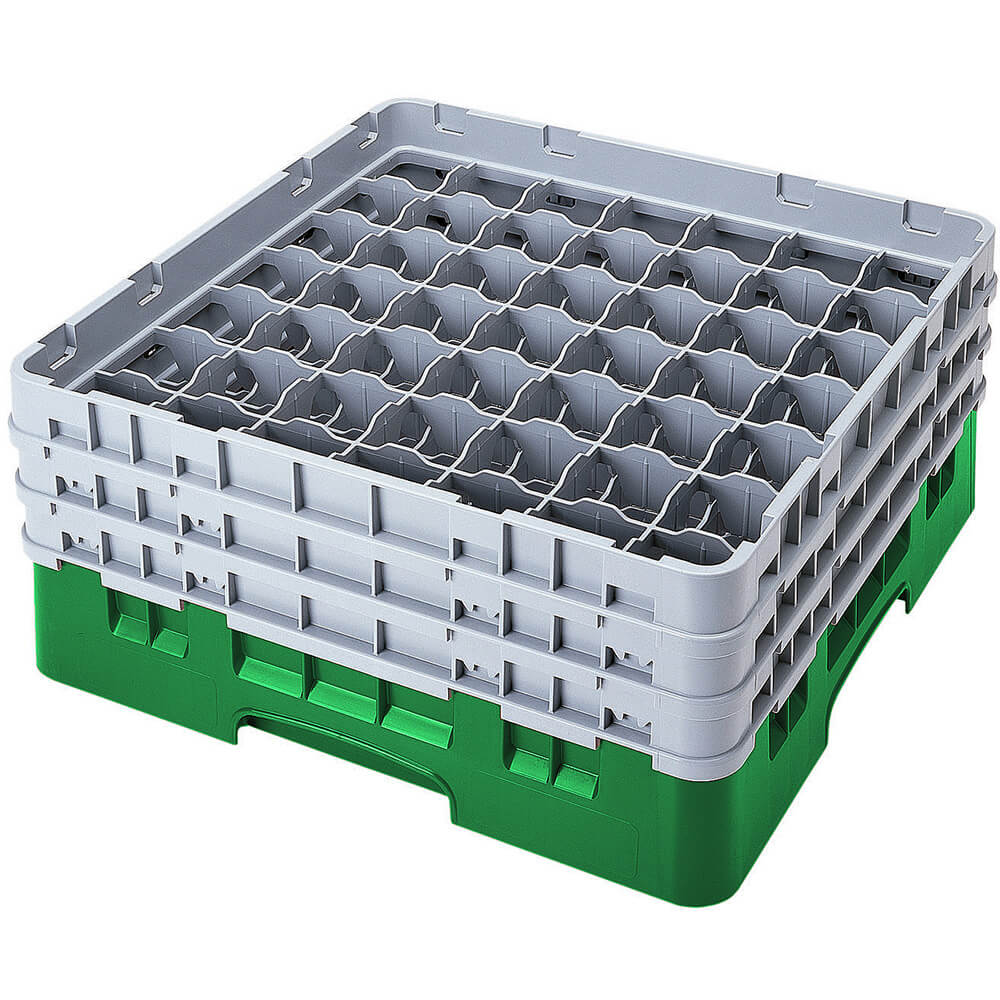 "Sherwood Green, 49 Comp. Glass Rack, Full Size, 6-7/8"" H Max."