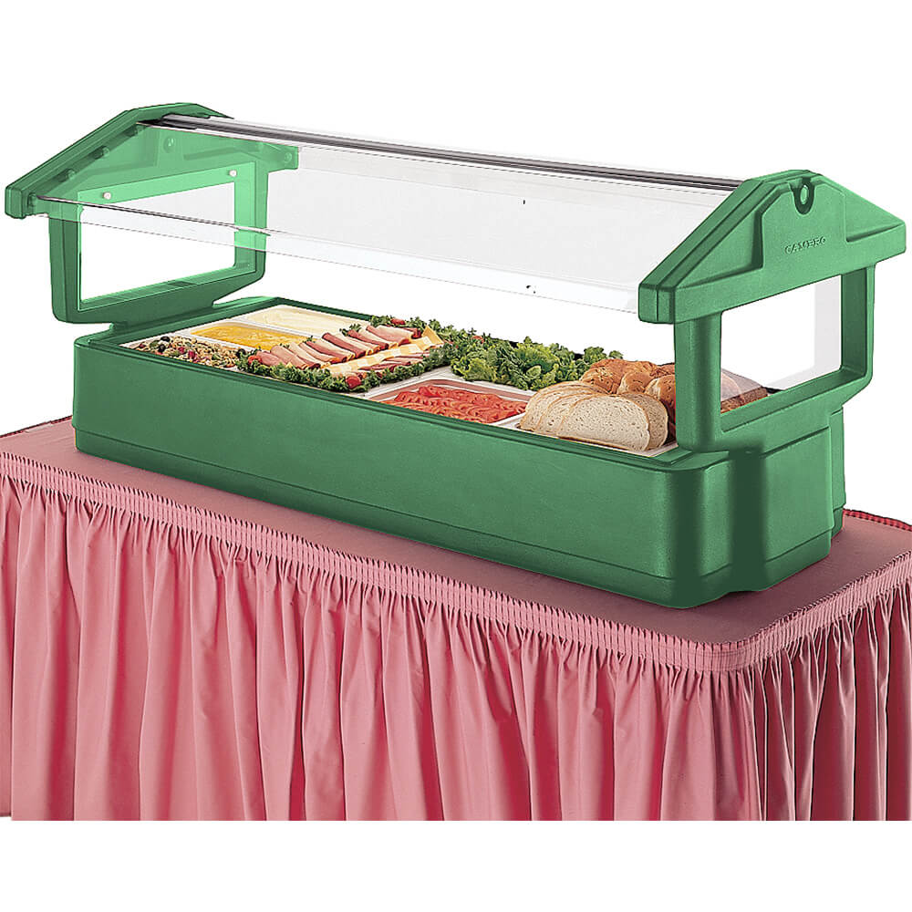 Green, 5ft Table Top Food Bar with Sneeze Guard