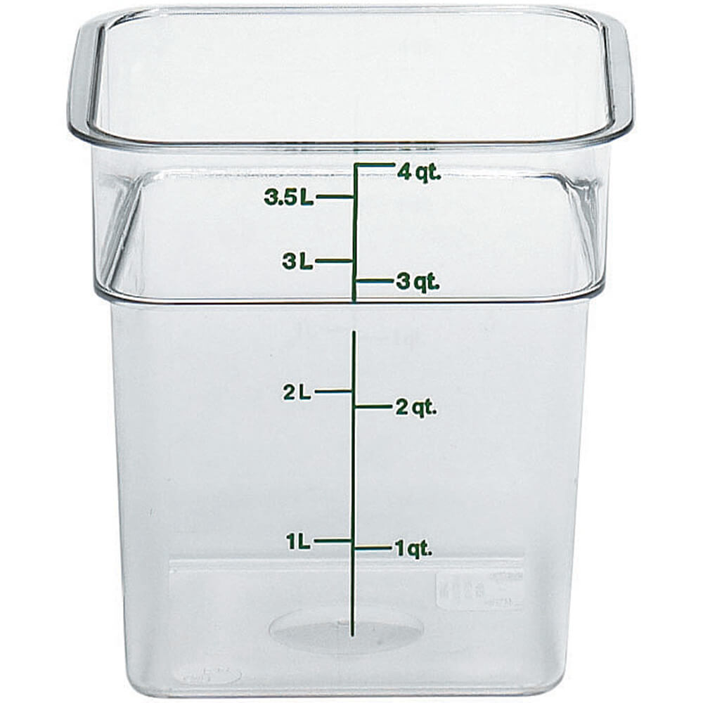 Clear, 4 Qt. CamSquare Food Storage Containers, 6/PK