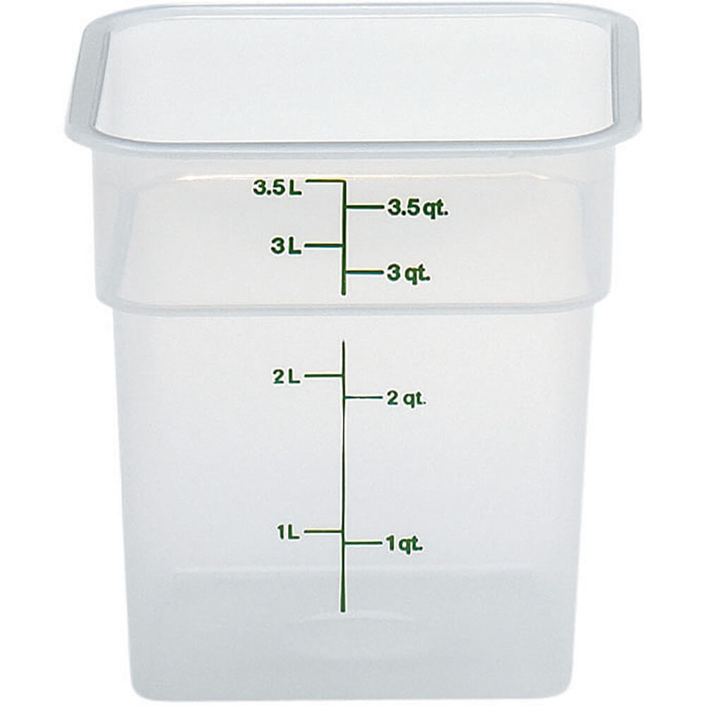 Translucent, 4 qt. Translucent CamSquare Food Storage Containers, 6/PK