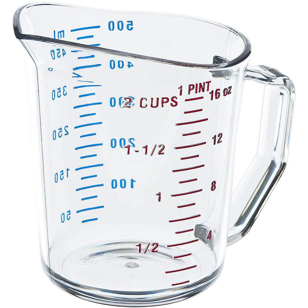 Clear, Camwear Measuring Cups, 1 Pint, 12/PK