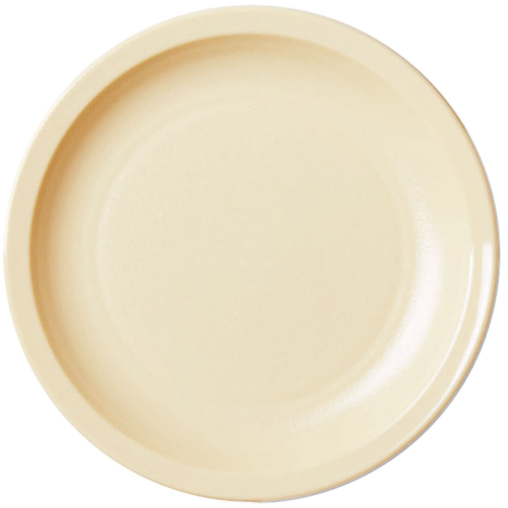 "Beige, 5-1/2"" Narrow Rim Plate, Unbreakable Dinnerware, 48/PK"
