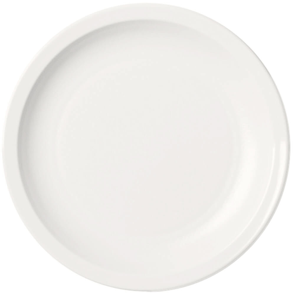 "White, 5-1/2"" Narrow Rim Plate, Unbreakable Dinnerware, 48/PK"