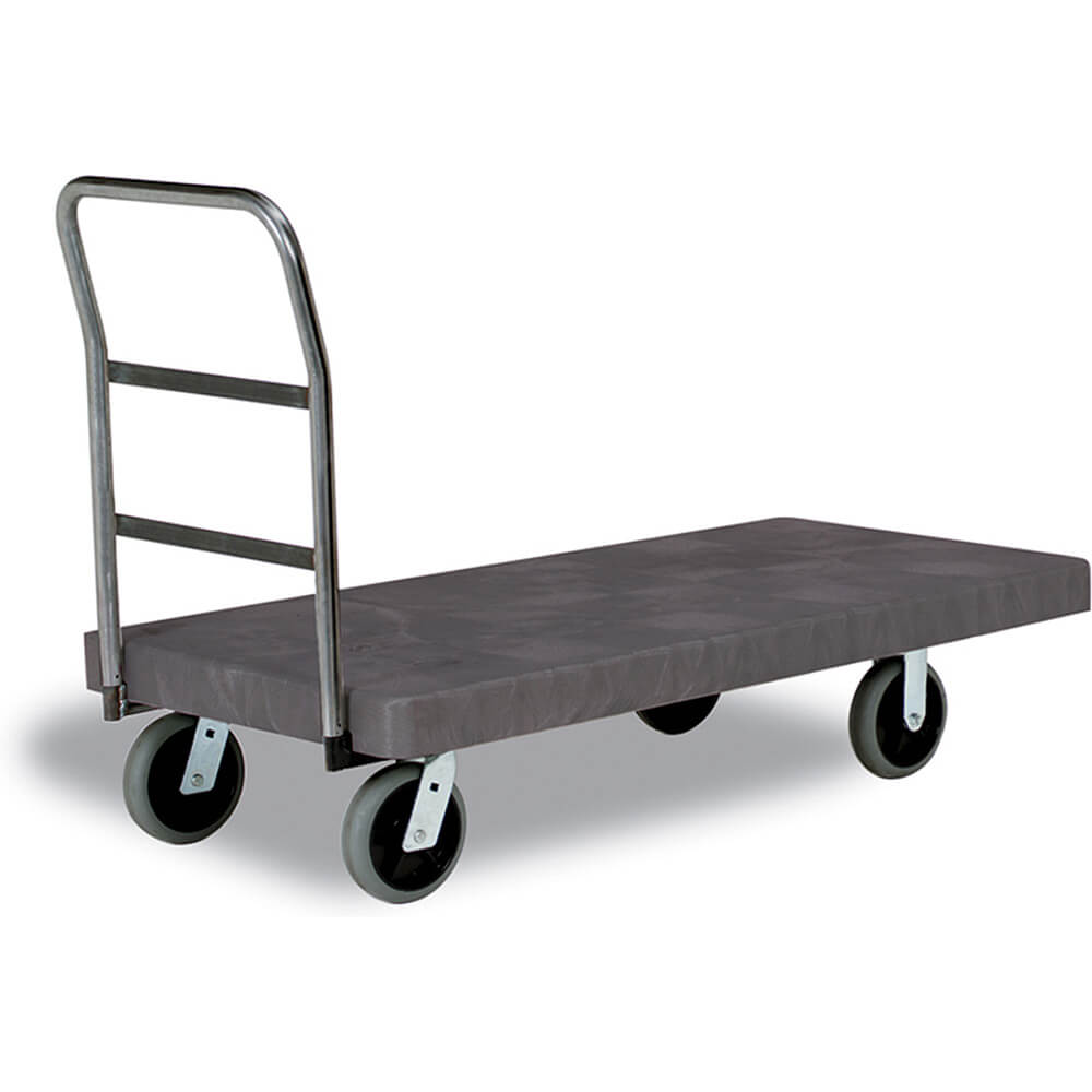 "One Handle Heavy Duty Platform Truck, 30"" X 60"", 8"" Casters"