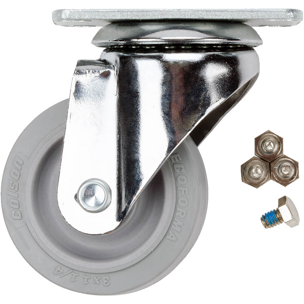 "1-Front 3"" Swivel Caster, 4-Bolts (60303)"