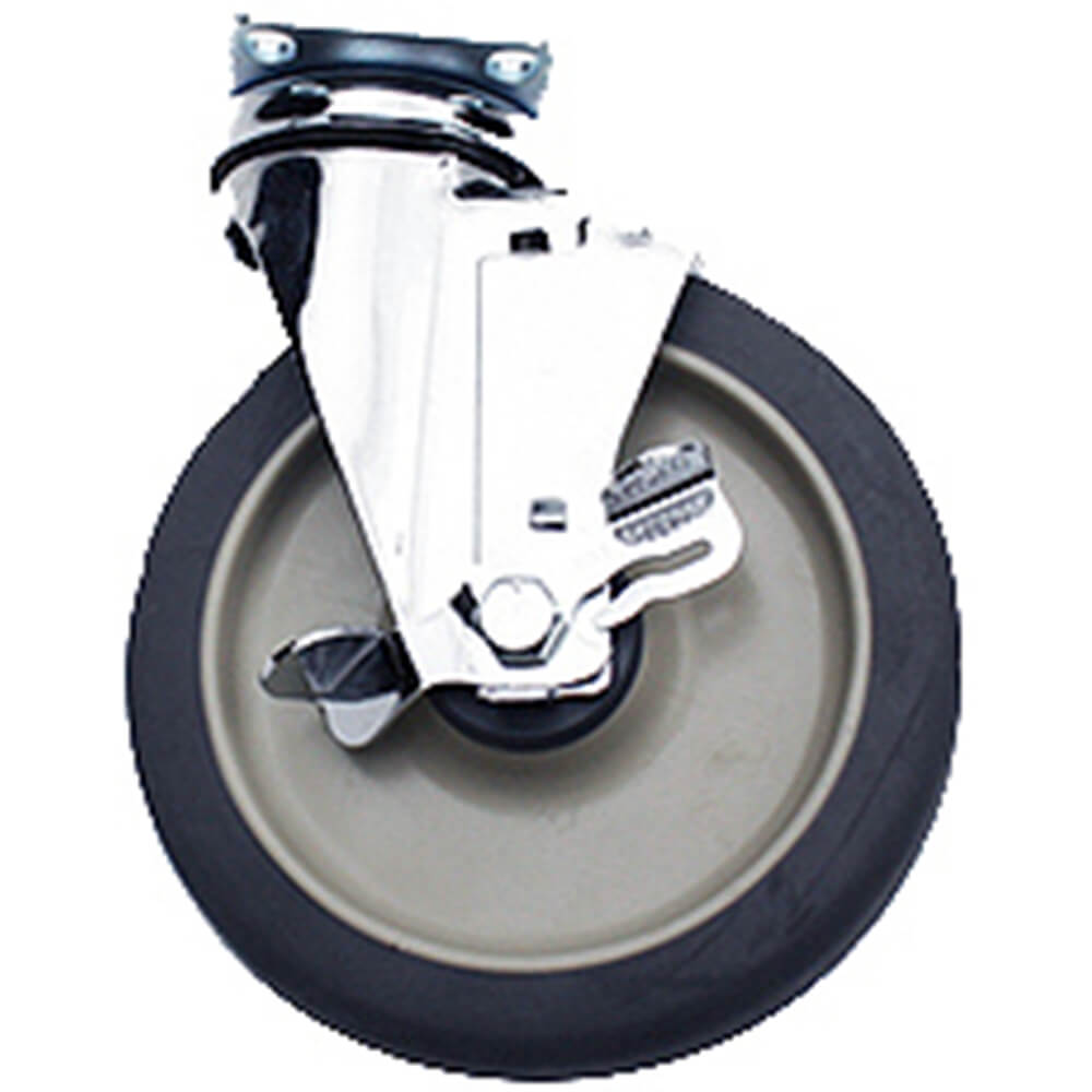 "1-6"" Swivel w/Brake Caster, 4-Bolts (60300)"