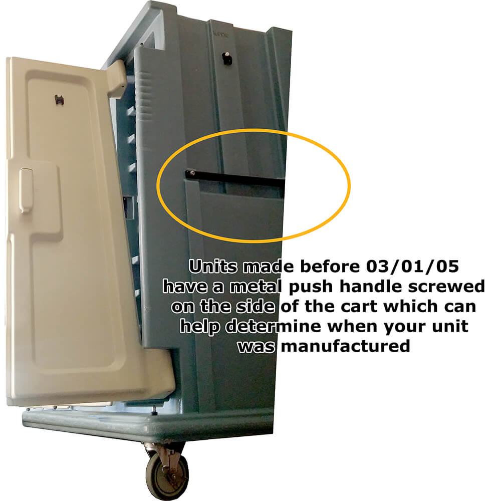 Left or Middle Door Kit for Meal Delivery Carts MDC1418T30, MDC1520T30 Before 03/05 View 2