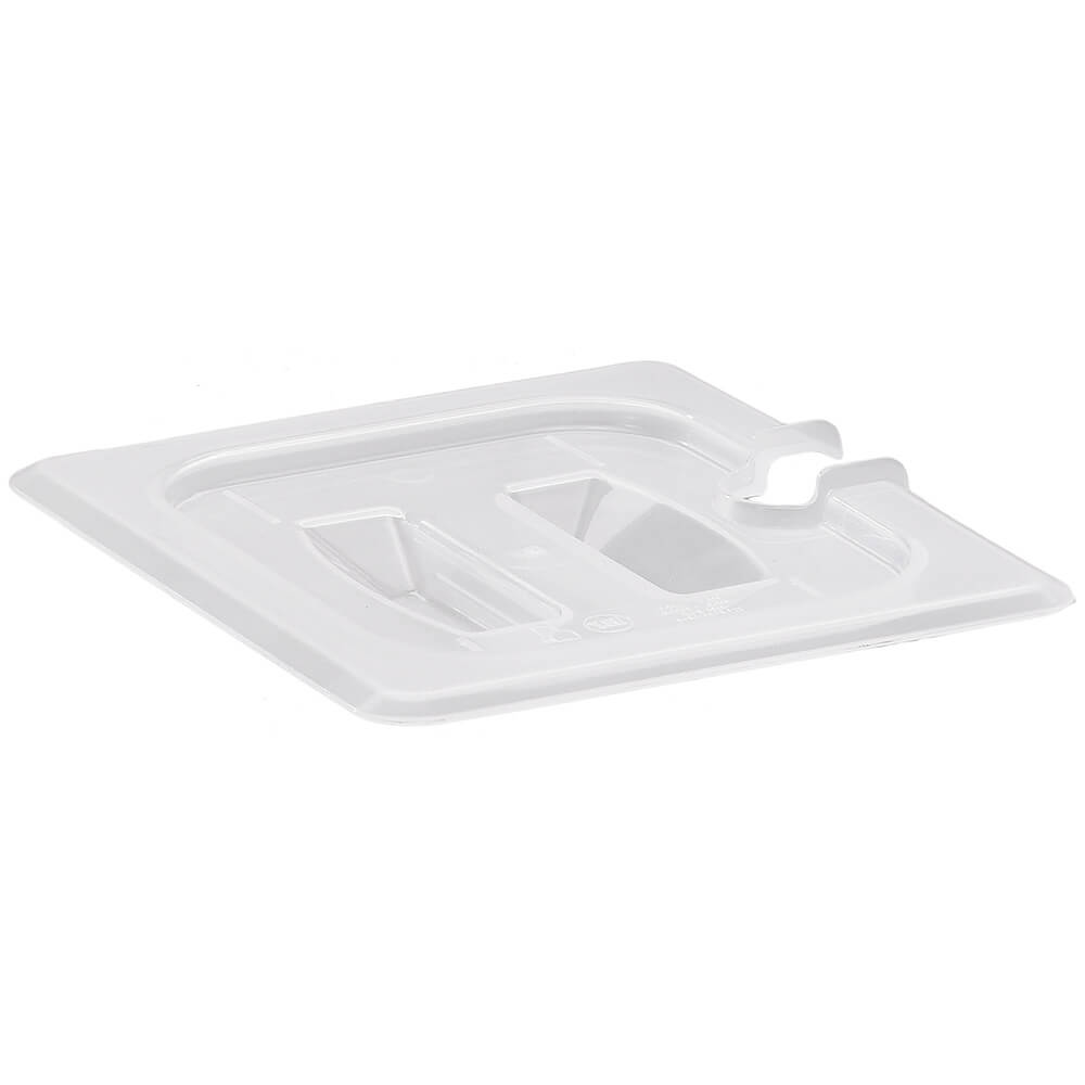 Translucent, 1/6 GN Notched Lid with Handle, 6/PK