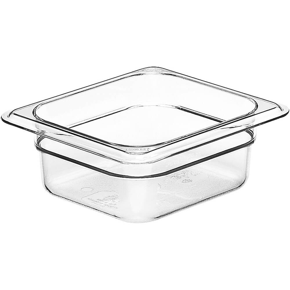 "Clear, 1/6 GN Food Pan, 2 1/2"" Deep, 6/PK"