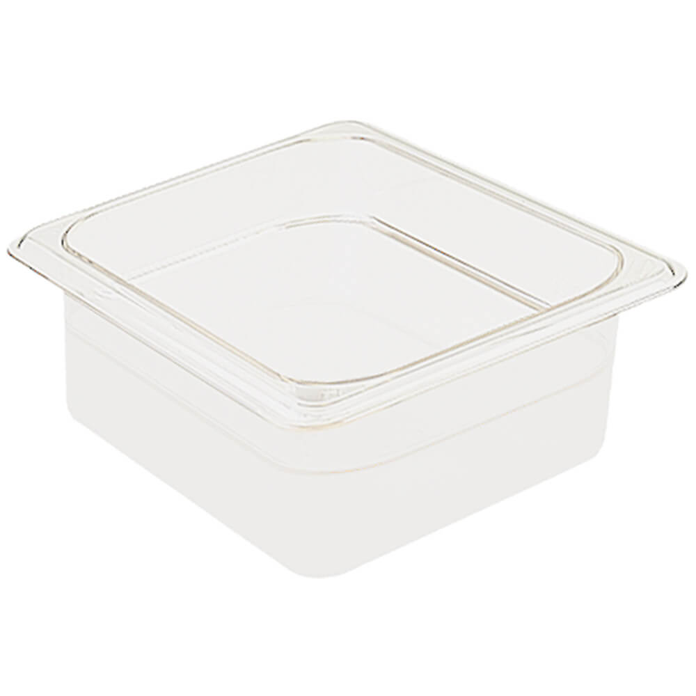 "White, 1/6 GN Food Pan, 2 1/2"" Deep, 6/PK"