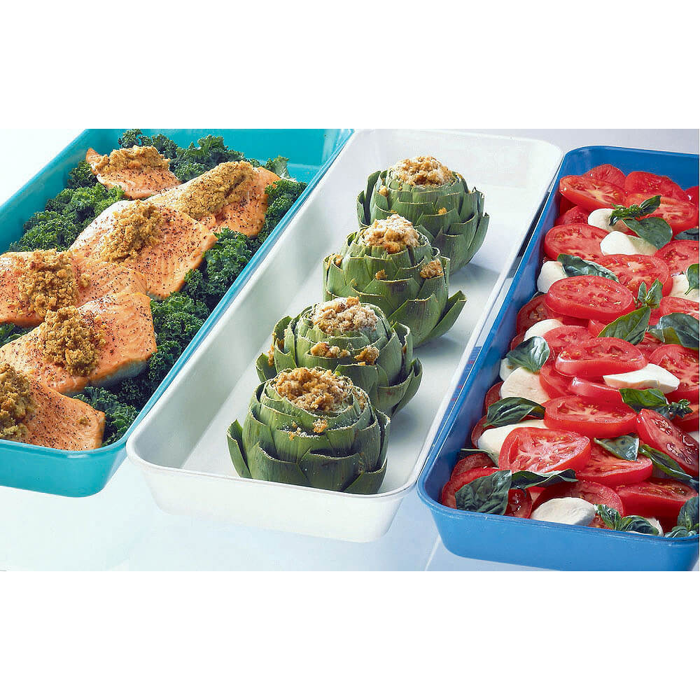 "Green, 8"" x 30"" x 2"" Deli / Bakery Display Pans, 12/PK View 2"