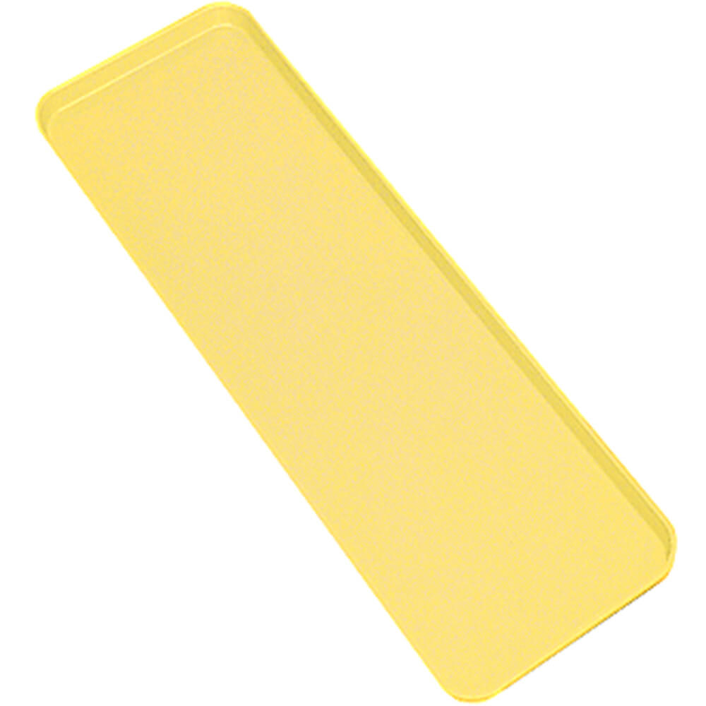 "Yellow, 6"" x 30"" x 3/4"" Deli / Bakery Display Trays, 12/PK"