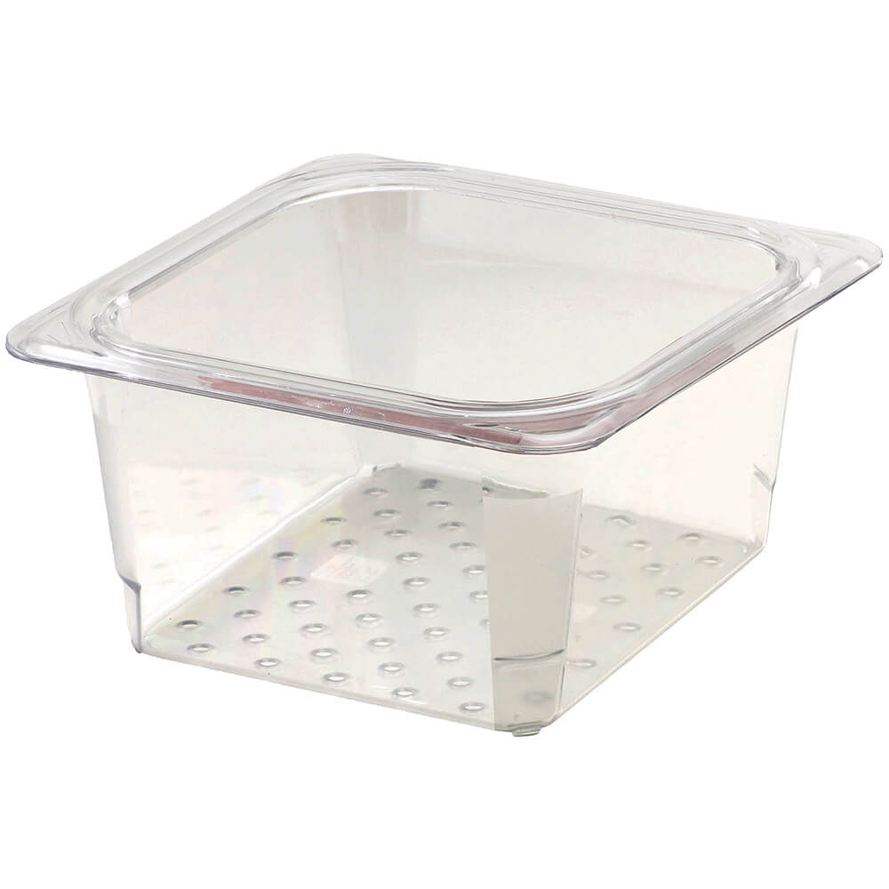 "Clear, Perforated Pan / Colander, GN 1/6, 3"" Deep, 6/PK"