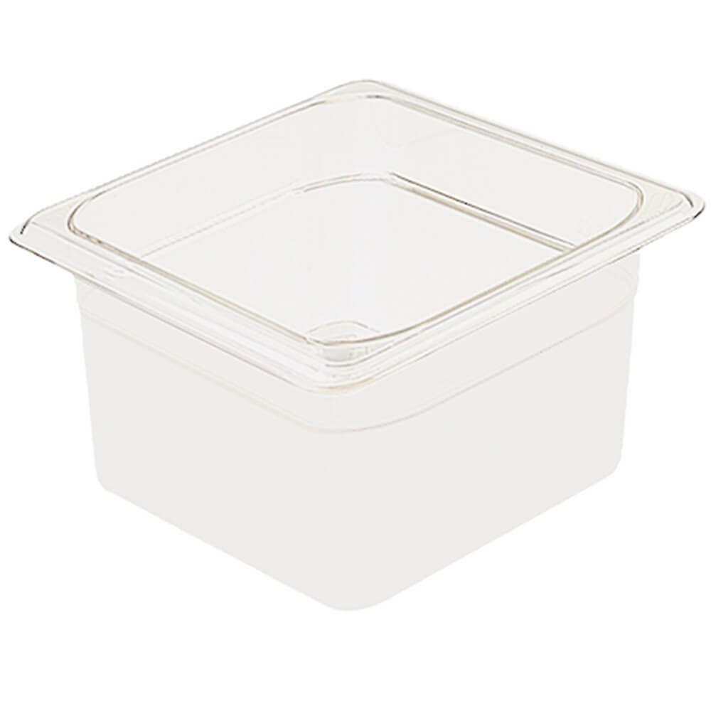 "White, 1/6 GN Food Pan, 4"" Deep, 6/PK"