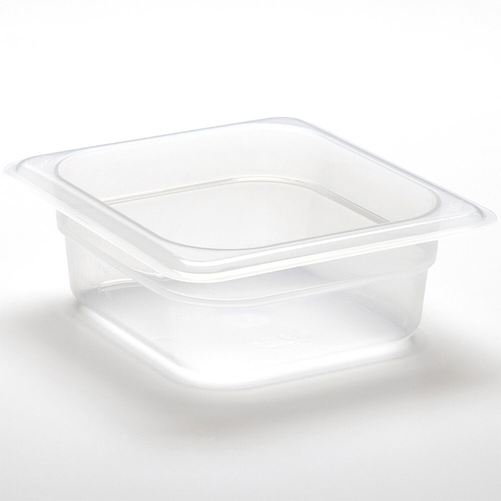 "Translucent, 1/6 GN Food Pan, 4"" Deep, 6/PK"