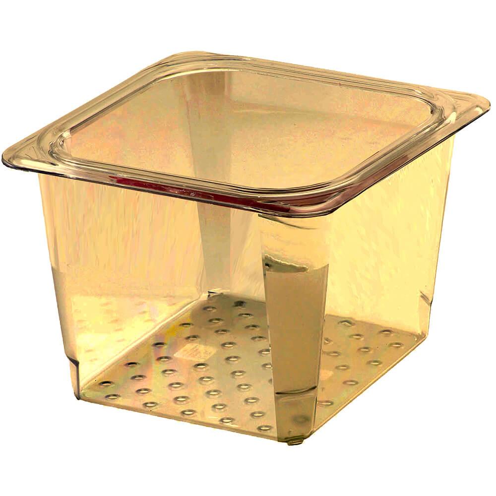 "Amber, High Heat Perforated Pan / Colander, GN 1/6, 5"" Deep, 6/PK"