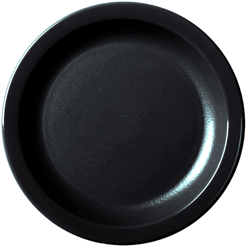 "Black, 6-9/16"" Narrow Rim Plate, Unbreakable Dinnerware, 48/PK"