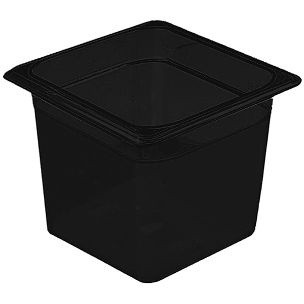 "Black, 1/6 GN Food Pan, 6"" Deep, 6/PK"